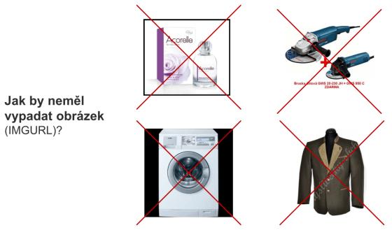 Příklady obrázku jak je NEposílat
