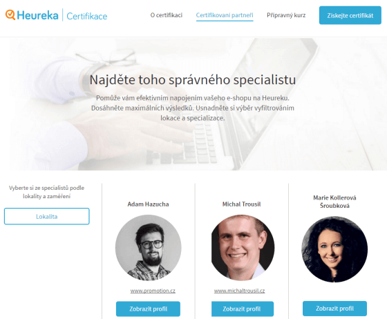 Web Certifikace se Specialisty Heuréky