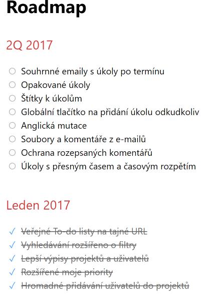 Roadmapa co se bude dělat ve Freelo.cz za nové funkce