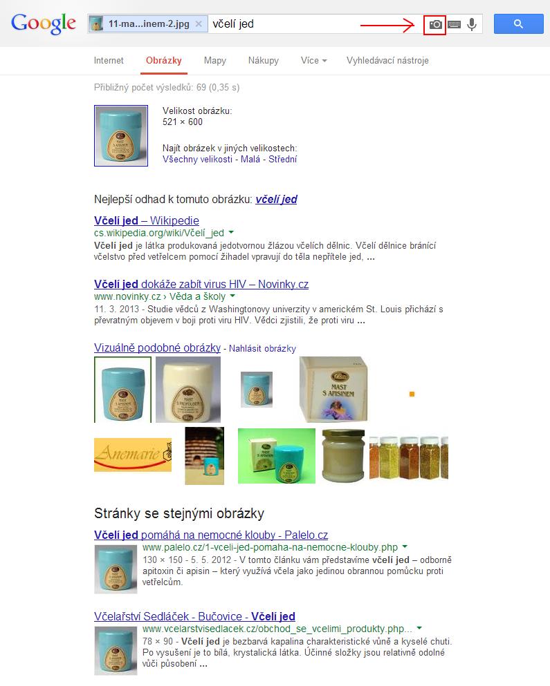 Screen obrazovky z google hledání obrázků.