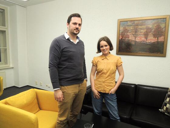 Společně s Jaroslavem Bělehradem v kanceláři firmy Alviso Technologies, s.r.o. v Brně.
