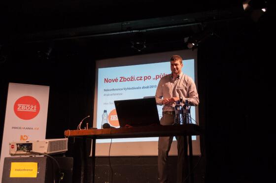 Nekonferenci odstartoval Milan Šmíd ze Zboží.cz a představil zavedené i plánované novinky.