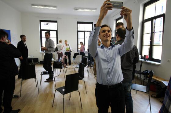 Selfie v podání Michala Hardyna