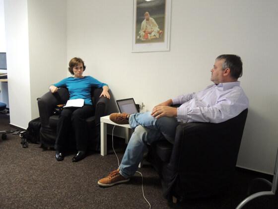 Petra Mikulášková a Dominik Formánek spolu hovoří o fulfillmentu