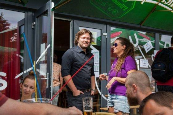 Jan Kvasnička s Janou Skulinovou na Eshop víkendu 2015