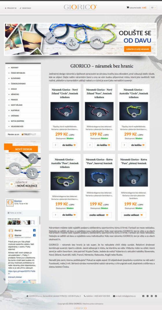 Screen eshopu na platformě Byznysweb